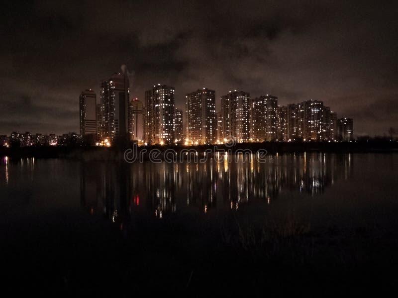 Miroir de la ville image libre de droits
