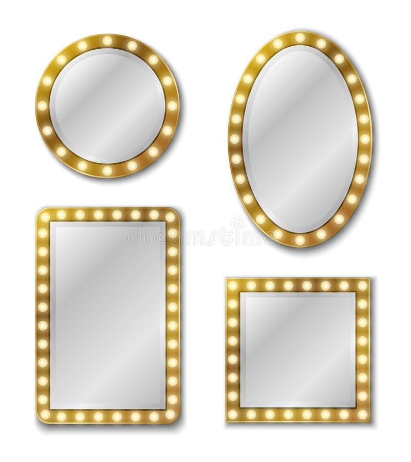 Miroir de maquillage E illustration de vecteur