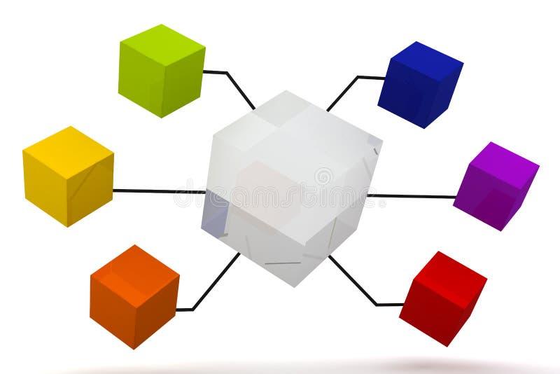 miroir en verre et bo te d 39 organisation de couleur. Black Bedroom Furniture Sets. Home Design Ideas