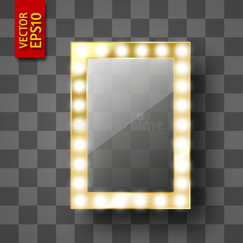 Miroir pour le maquillage ou un cadre de photo image libre de droits