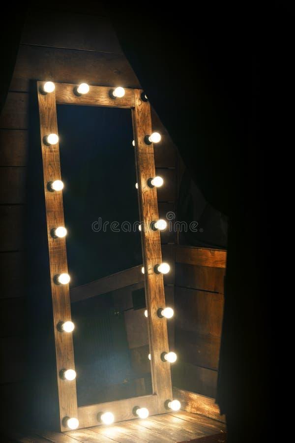 Miroir rétro-éclairé photo stock
