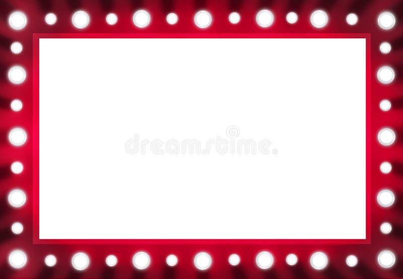 miroir rouge d 39 ampoule d 39 arri re sc ne avec l 39 espace blanc illustration stock illustration du. Black Bedroom Furniture Sets. Home Design Ideas