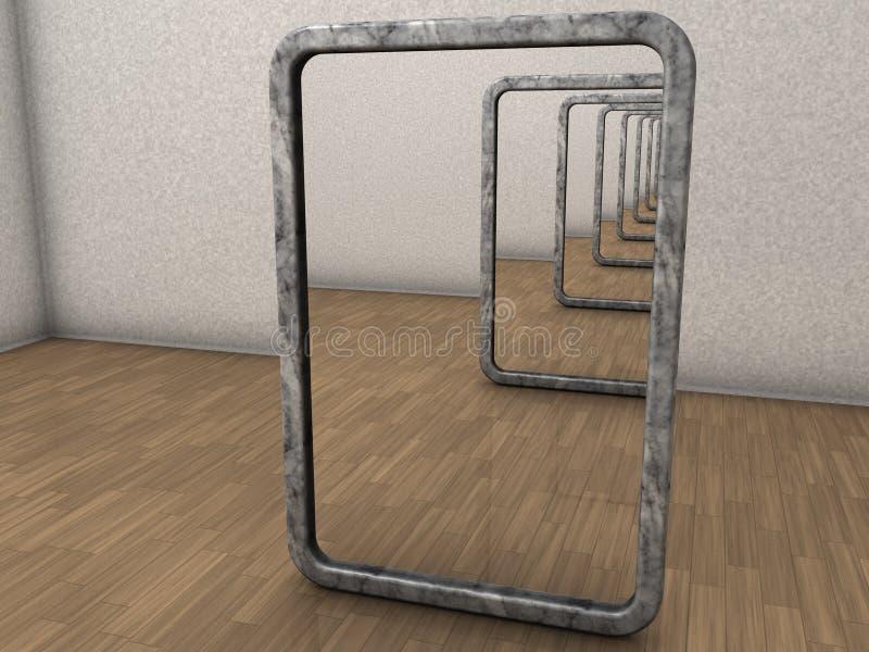 miroirs infinis illustration libre de droits
