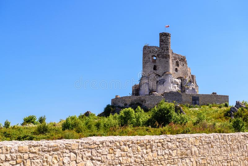 Ruins of Castle in Mirow village, one of the medieval castles called Eagles Nests Trail stock photos