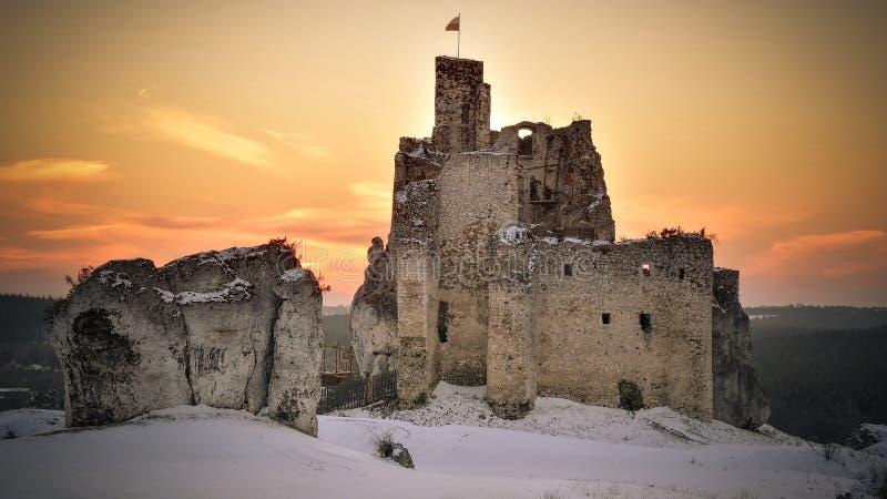 Mirow-Schloss in Polen lizenzfreie stockbilder
