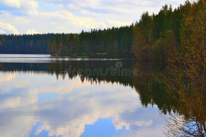 Mirror湖 库存照片