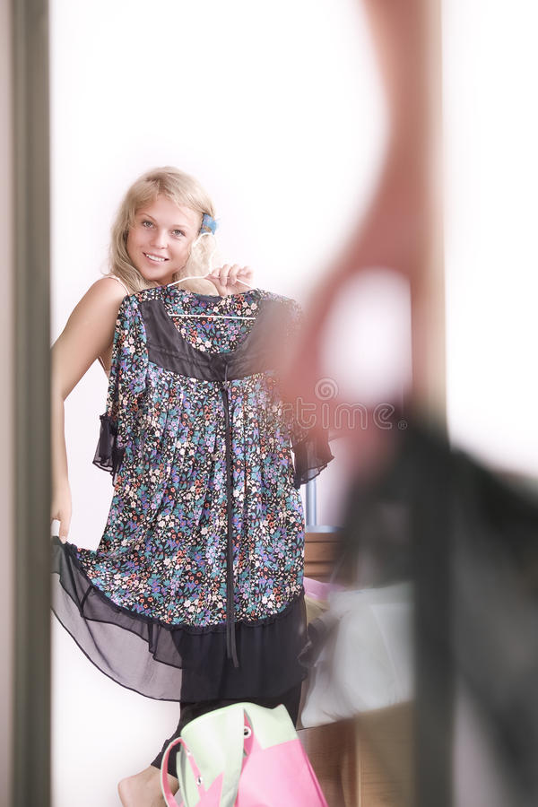 Download Mirror stock photo. Image of fashion, blond, femininity - 17265088