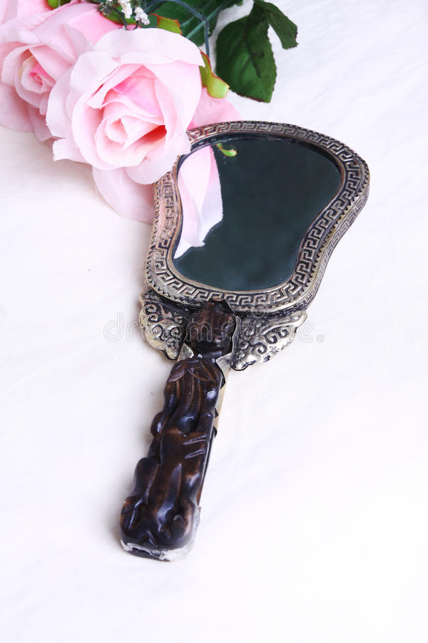 Download Mirror stock image. Image of white, rose, mirror, background - 19976909