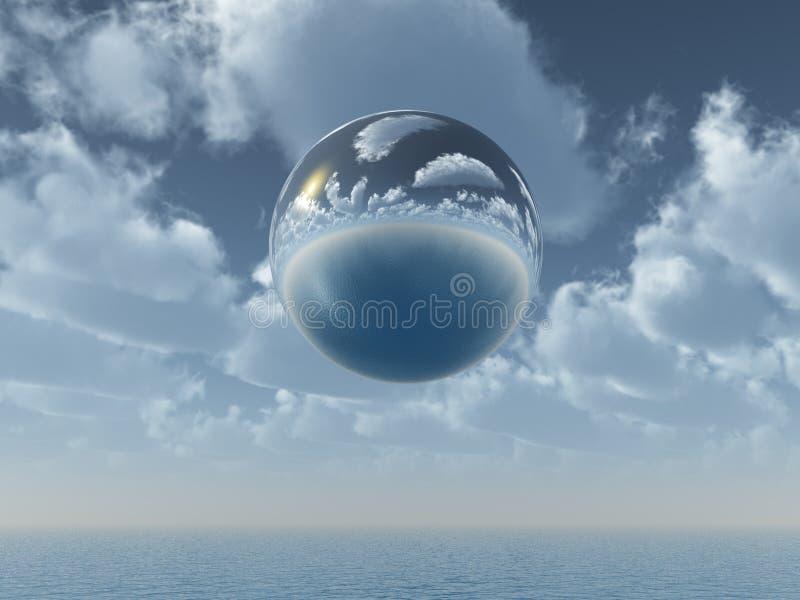 Mirror ball royalty free illustration