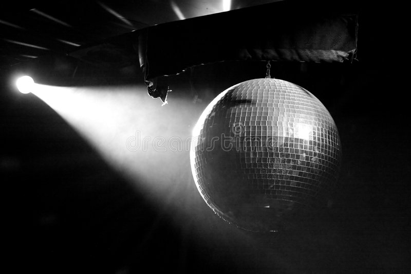 Mirror Ball Black and White royalty free stock images