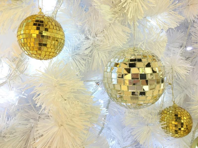 Mirror ball in christmas fastival royalty free stock photos