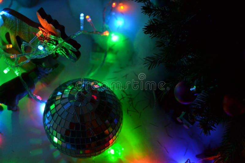 Download Mirror Ball And Christmas Lights Stock Photo - Image: 83711237