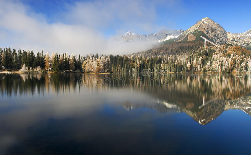 Download Mirror In A Beautiful Lake In The High Tatras Stock Photos - Image: 12400593