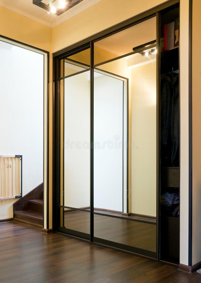 Mirror case in vestibule stock photo
