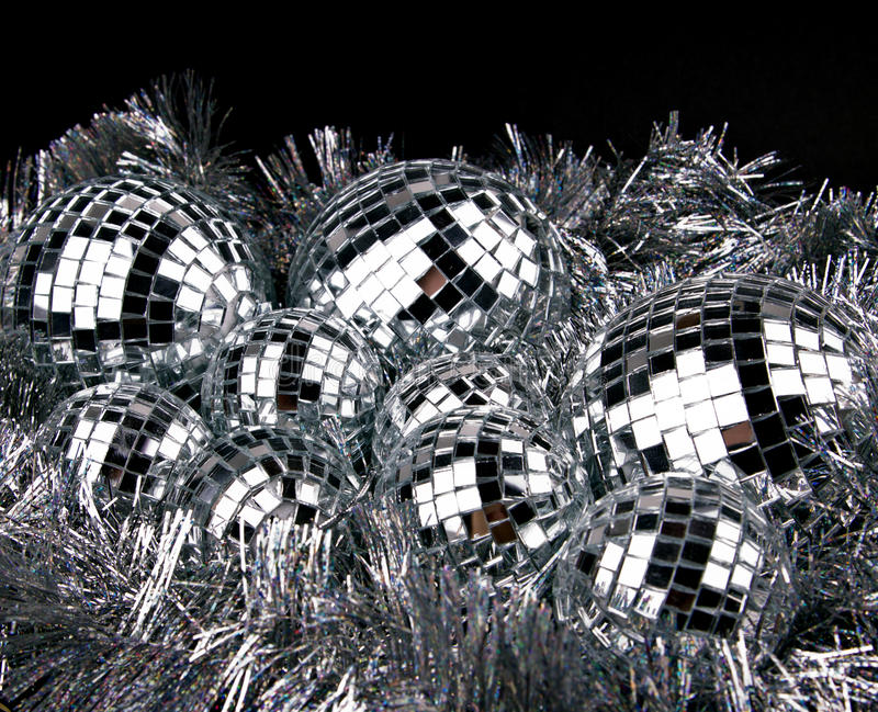 Download Mirror Christmas Balls On Silver Stock Photo - Image: 26848416