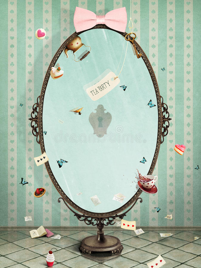 Mirror royalty free illustration