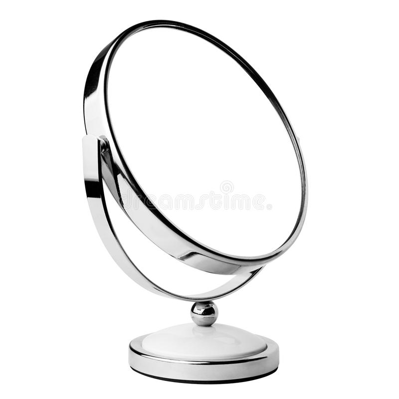 Mirror cosmetic, clipping path, isolated royalty free stock photo