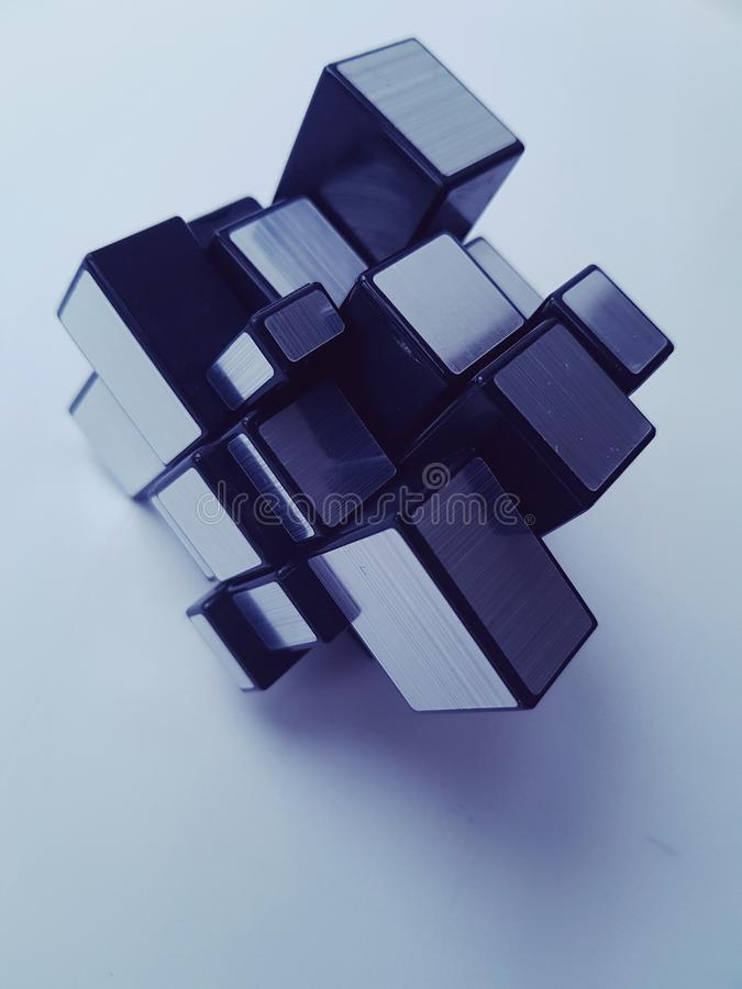 Mirror Rubiks cube royalty free stock images