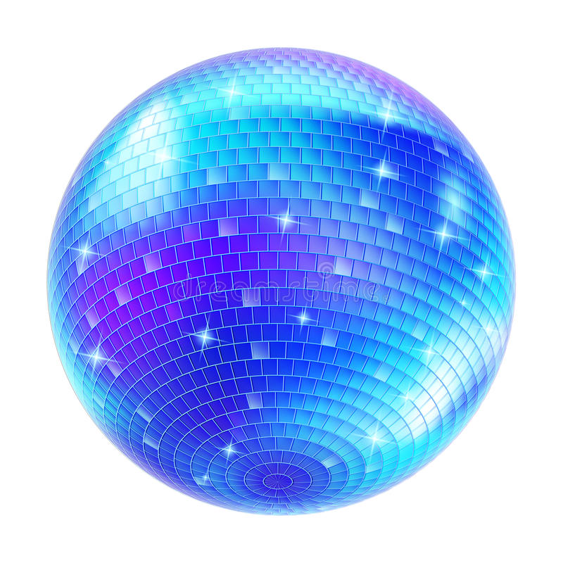 Mirror Disco Ball royalty free illustration