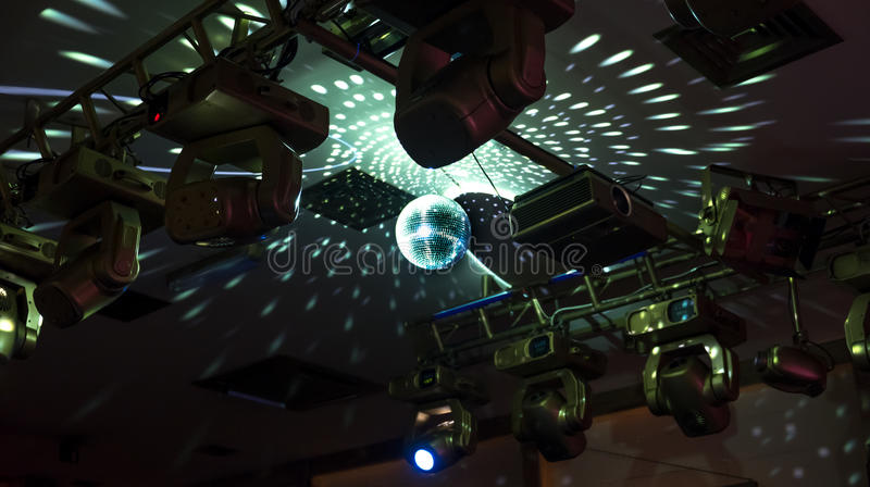 Mirror disco ball with reflected lights on the ceiling stock image download mirror disco ball with reflected lights on the ceiling stock image image of abstract aloadofball Image collections