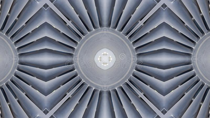 Mirror effect on aircraft jet propellers royalty free stock image