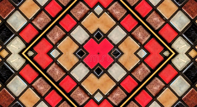 Mirror effect on small tiles royalty free stock photo
