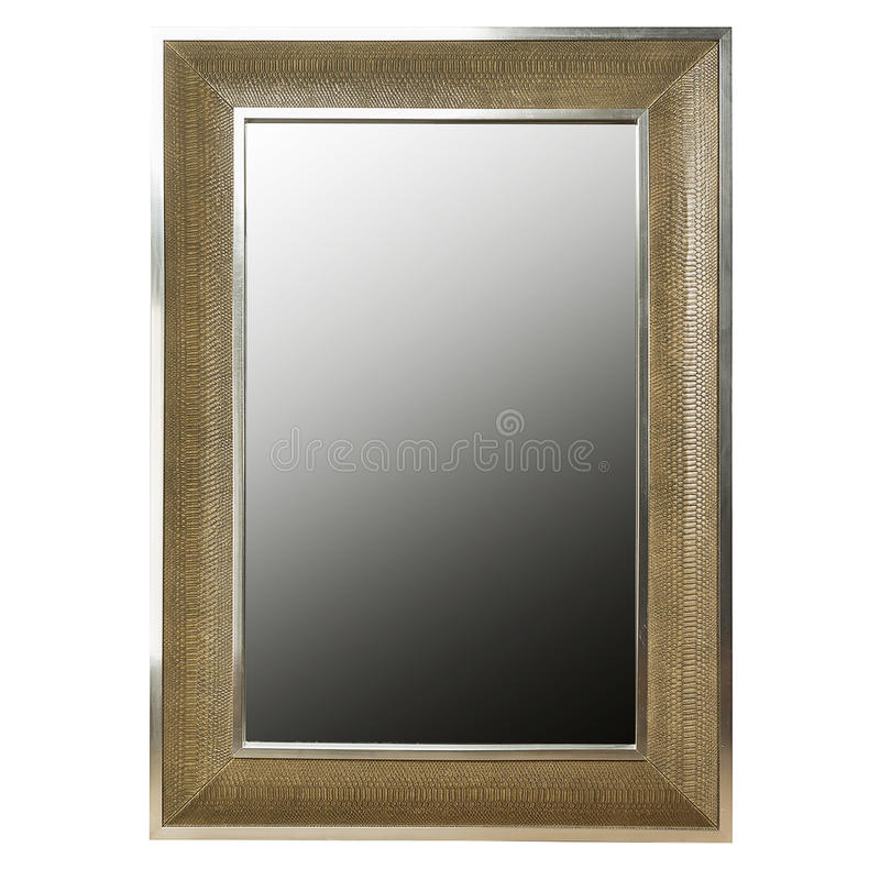 Mirror or Empty picture frame. Luxury mirror or empty picture frame isolated on white background royalty free stock image