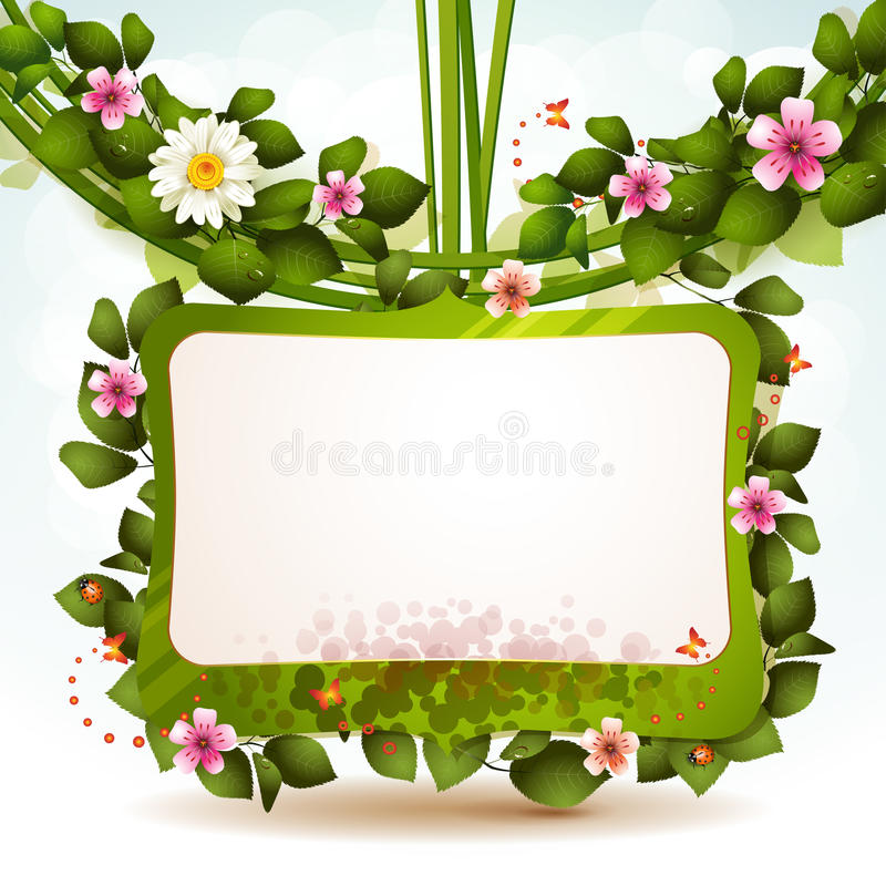 Download Mirror With Flowers Royalty Free Stock Photo - Image: 24842875