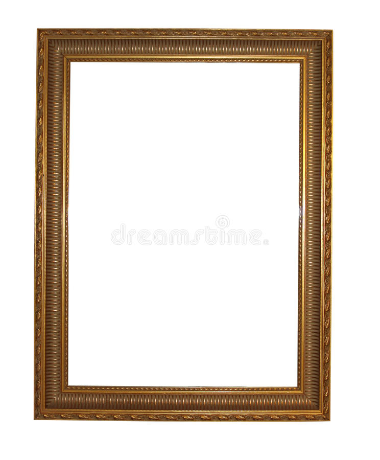 Mirror frame. Isolated on a white background royalty free stock image
