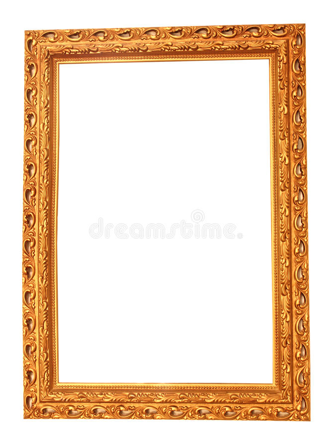 Mirror Frame. This photo shows an ornate golden mirror frame stock photos