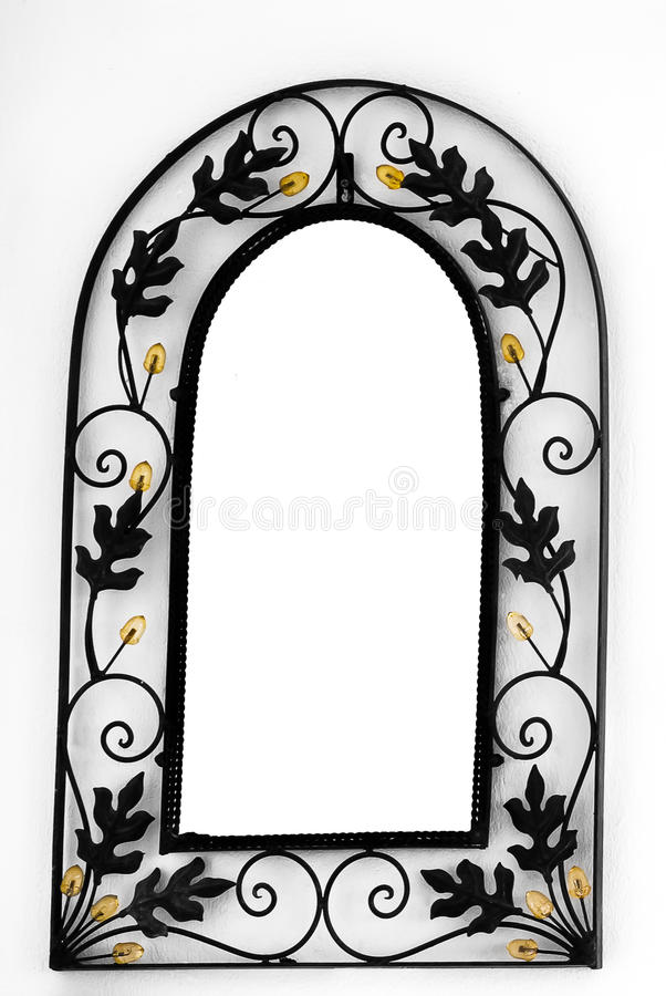 Mirror Frame on the wall. Mirror Frame on the white wall royalty free stock photo