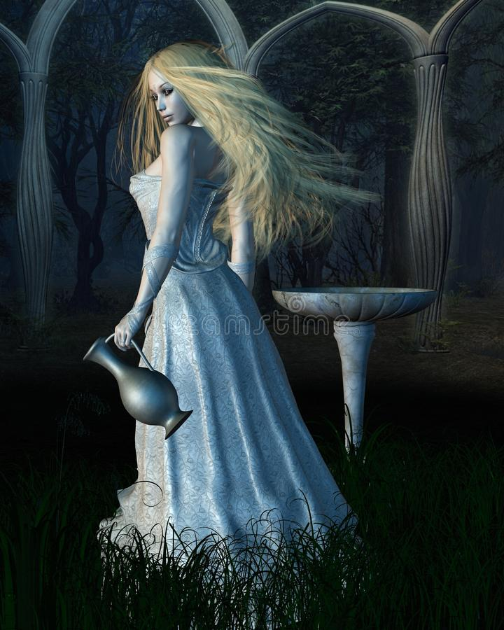 The Mirror of Galadriel royalty free illustration