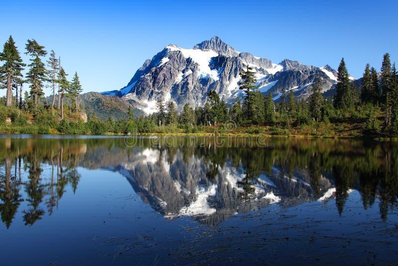 Mirror Lake and Mount Baker. Washington State royalty free stock photos
