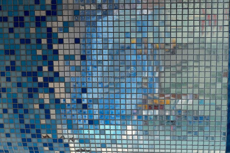 Mirror mosaic. texture.in the bathroom or pool. Mirror mosaic. texture. in the bathroom or pool stock images