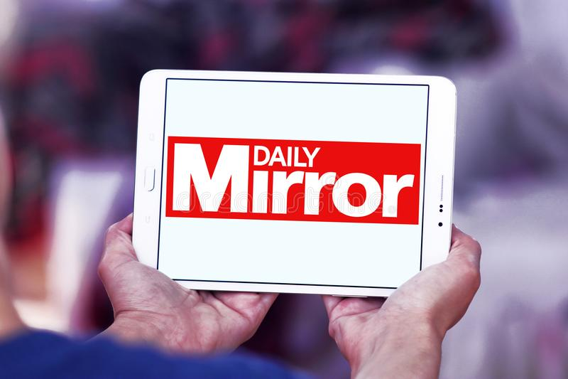 Daily Mirror newspaper logo. Logo of Daily Mirror newspaper on samsung tablet. The Daily Mirror is a British national daily tabloid newspaper founded in 1903 stock photo