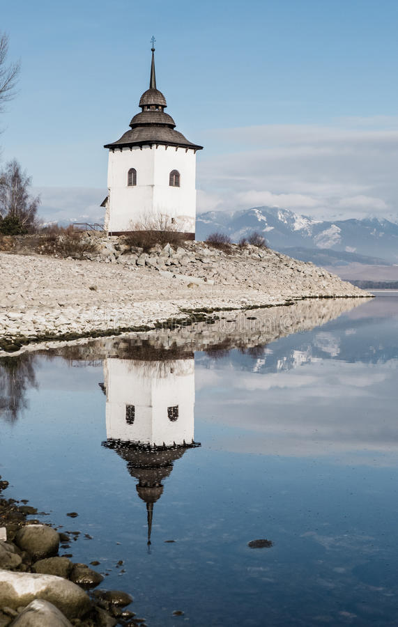 Mirror reflection on lake royalty free stock photography