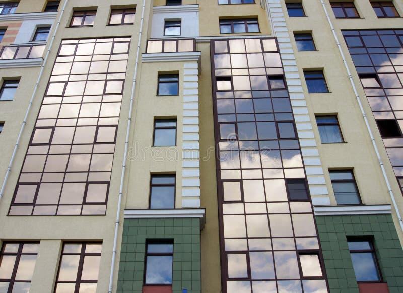 Mirror reflection of sky stock photo