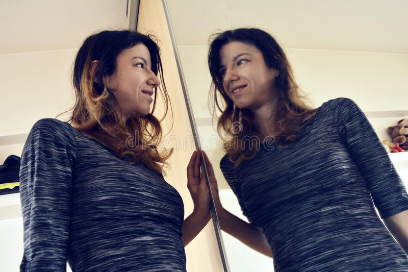Mirror reflection royalty free stock photography