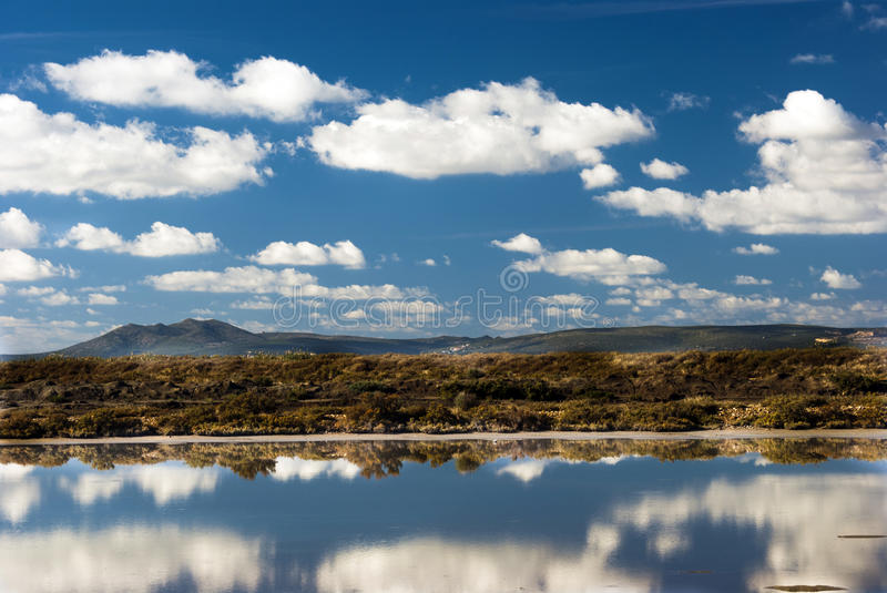 Mirror Reflections in Sardinia royalty free stock image