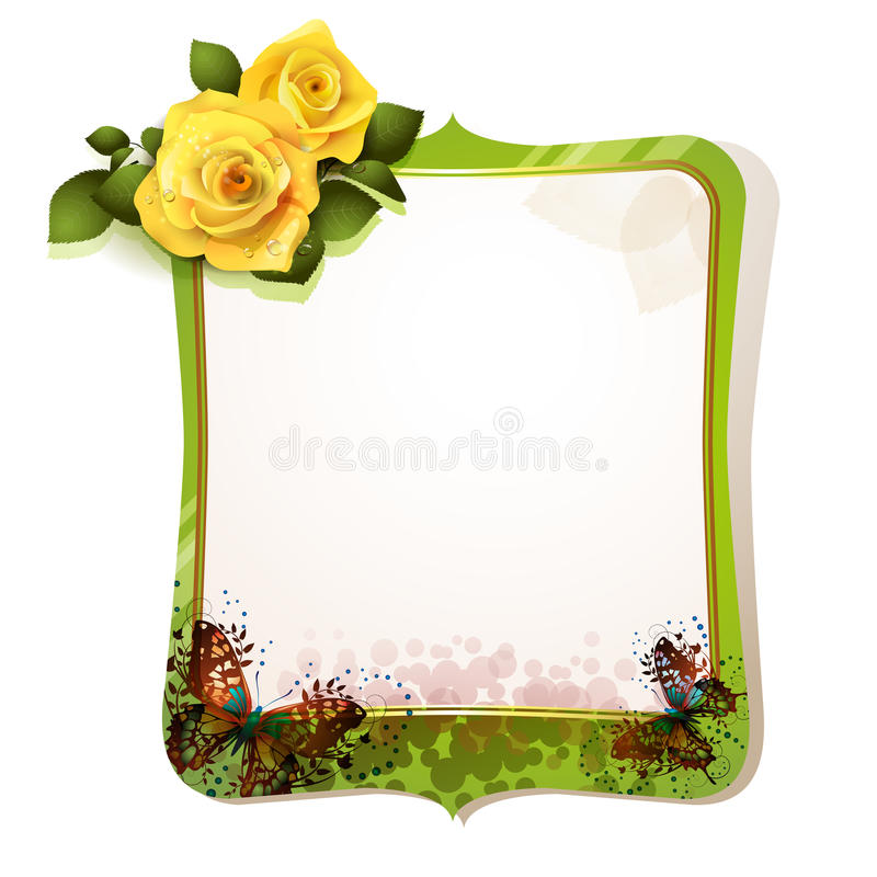 Download Mirror with roses stock vector. Image of card, decor - 23844580