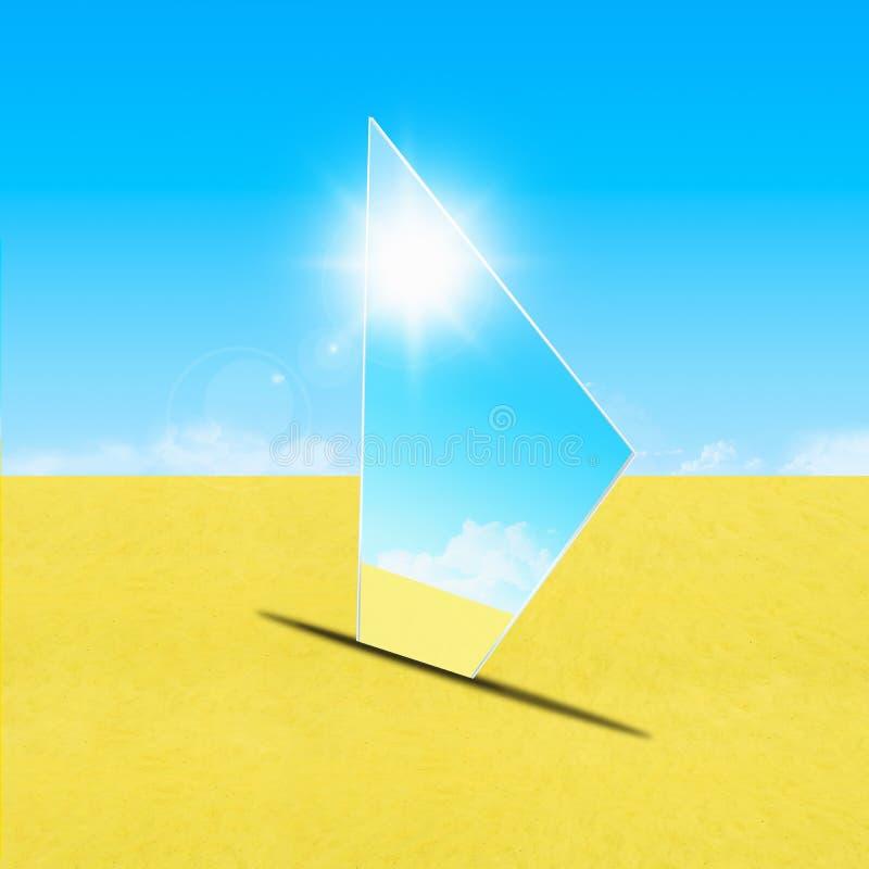 Download Mirror on sand stock illustration. Illustration of natural - 22718594