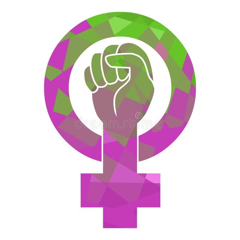 Mirror of Venus. Symbol of feminist movement. Vector template royalty free illustration