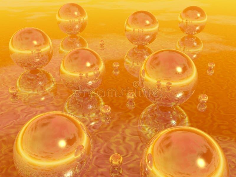 MirrorBalls_Gold vector illustratie