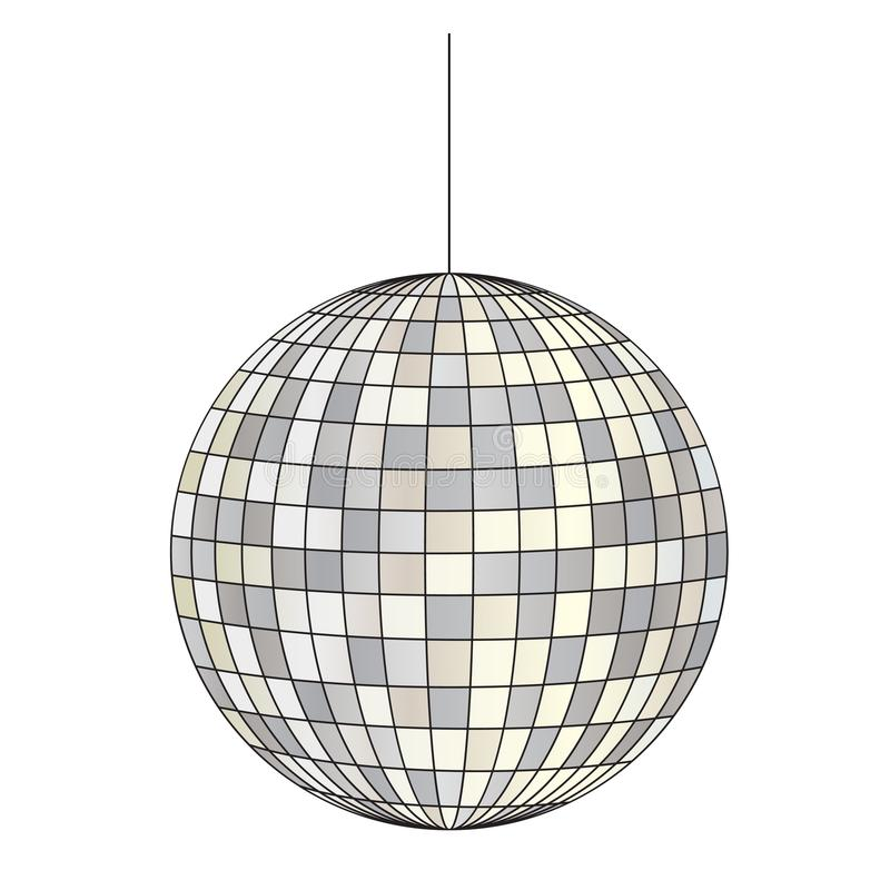 Mirrored disco ball stock illustration