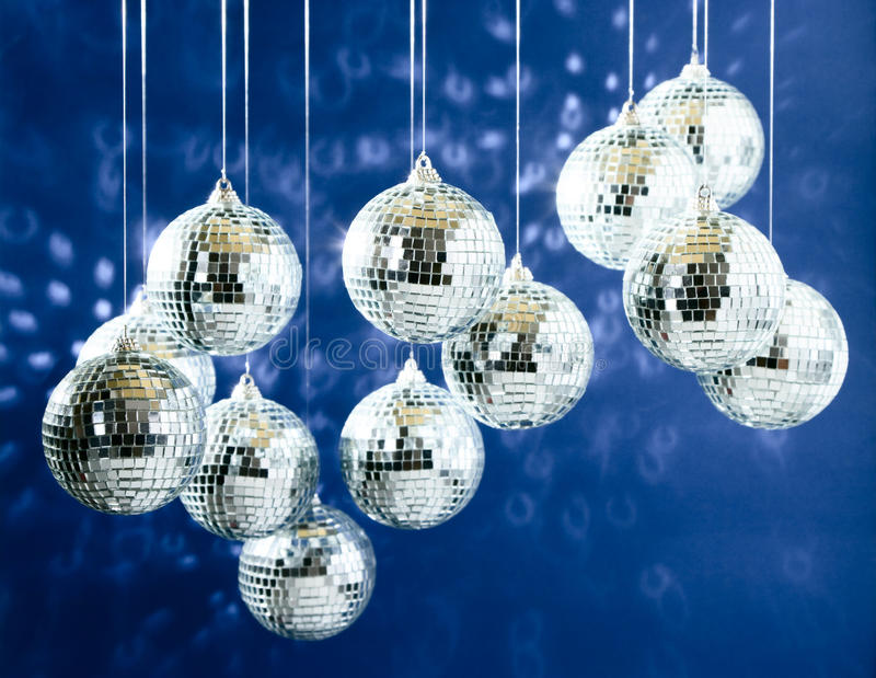 Download Mirrored disco balls stock photo. Image of blue, dark - 13311028