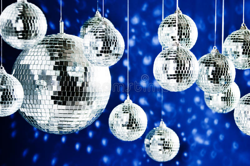 Download Mirrored Disco Balls With Light Spots Stock Image - Image: 13311035