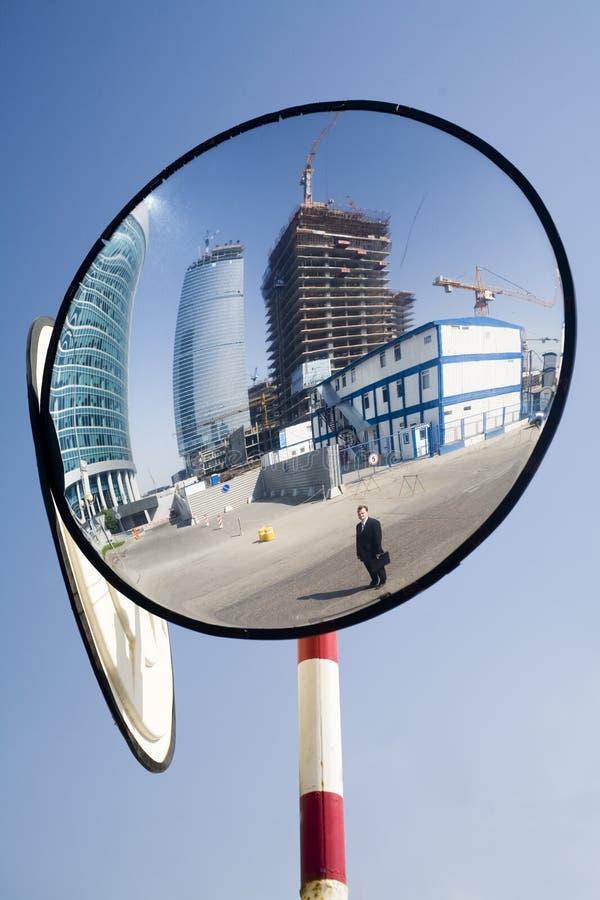 Mirroring construction royalty free stock photos