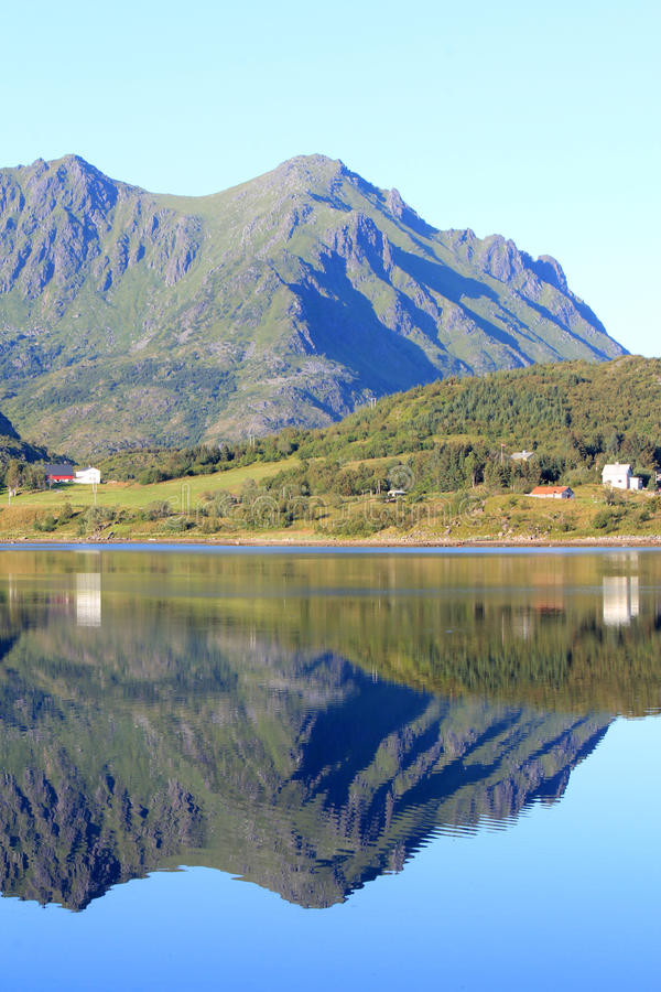 Mirroring Lofoten stock images