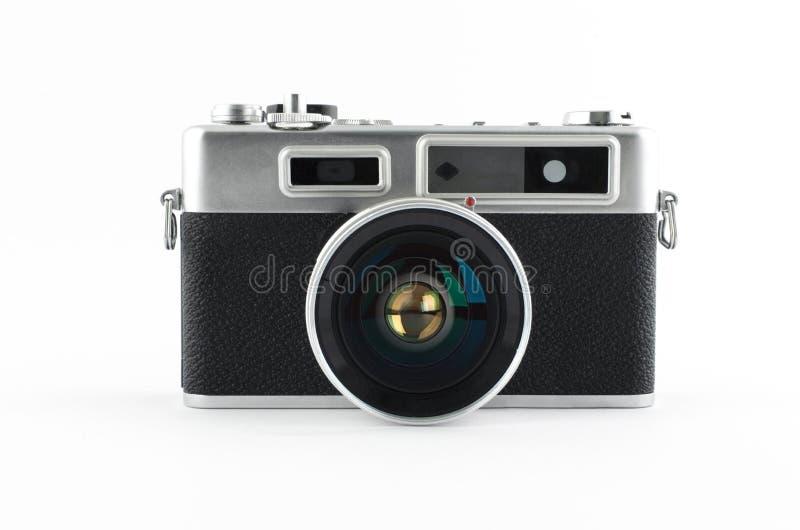 Mirrorless retro camera royalty-vrije stock afbeeldingen
