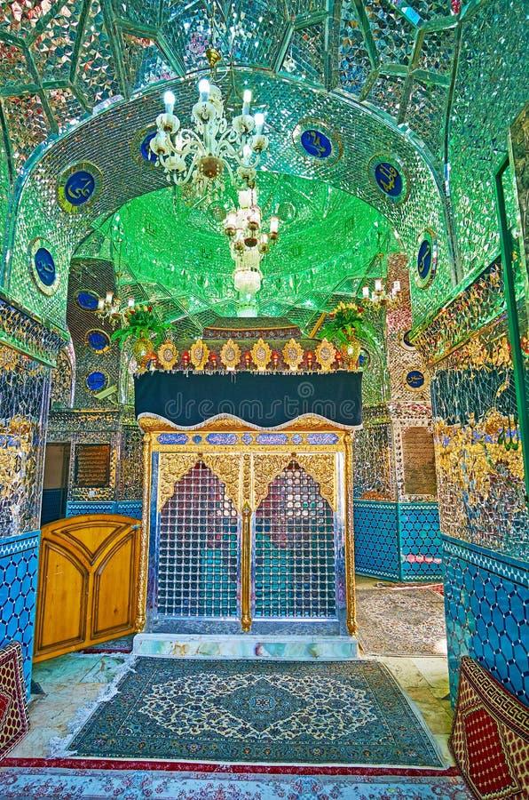 Mirrorwork em mausoléus persas, Kashan, Irã imagens de stock royalty free